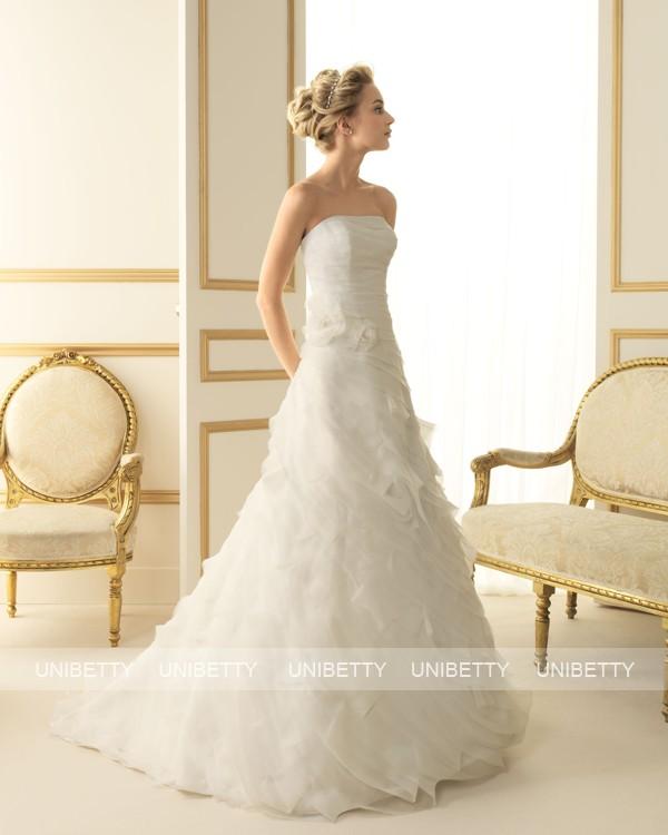 ウェディングドレス サイズオーダー無料 オーダードレス ウエディング Aライン WEDDING DRESS 披露宴 演奏会 結婚式 二次会 ws2520