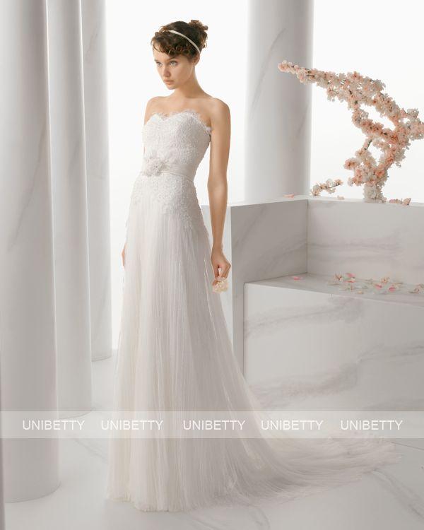 ウェディングドレス サイズオーダー 送料無料 Aライン 結婚式 二次会 披露宴 ws2662