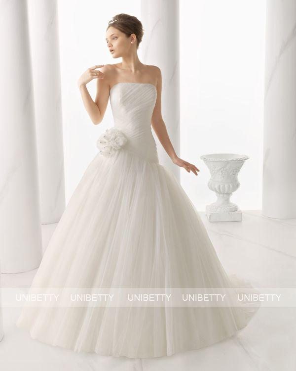 ウェディングドレス サイズオーダー Aライン 結婚式 二次会 披露宴 ws2668