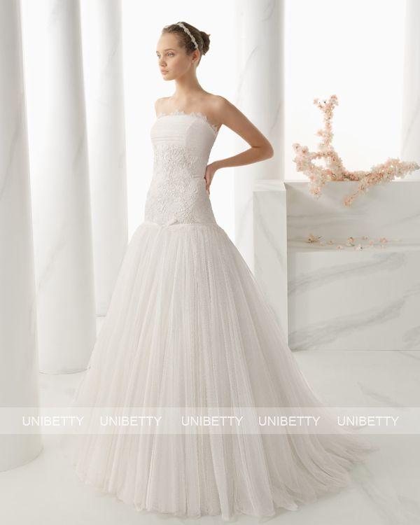 ウェディングドレス サイズオーダー 送料無料 Aライン 結婚式 二次会 披露宴 ws2666
