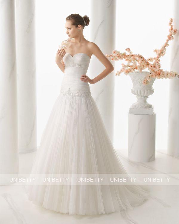 ウェディングドレス サイズオーダー 送料無料 Aライン 結婚式 二次会 披露宴 ws2667