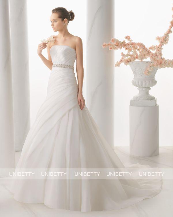 ウェディングドレス サイズオーダー 送料無料 Aライン 結婚式 二次会 披露宴 ws2696