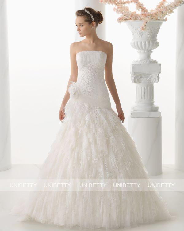 ウェディングドレス サイズオーダー 送料無料 Aライン 結婚式 二次会 披露宴 ws2665