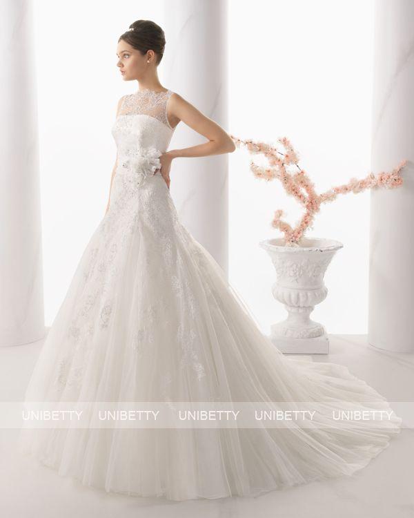 ウェディングドレス サイズオーダー 送料無料 Aライン 結婚式 二次会 披露宴 ws2675