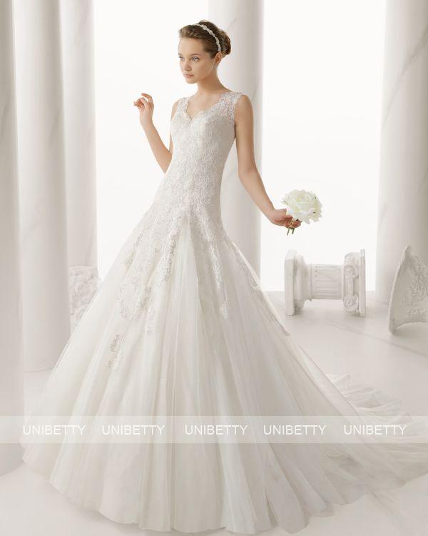 ウェディングドレス サイズオーダー 送料無料 Aライン 結婚式 二次会 披露宴 ws2677
