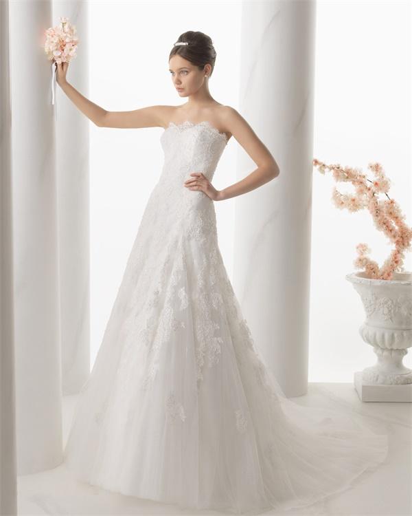 ウェディングドレス サイズオーダー 送料無料 Aライン 結婚式 二次会 披露宴 ws2679