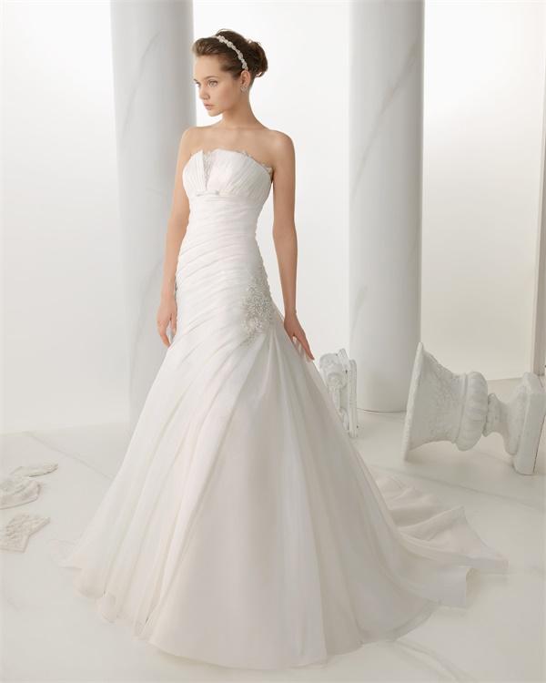 ウェディングドレス サイズオーダー 送料無料 Aライン 結婚式 二次会 披露宴 レースアップ ws2695