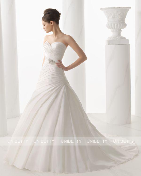 ウェディングドレス サイズオーダー 送料無料 Aライン 結婚式 二次会 披露宴 ws2699