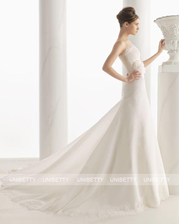 ウェディングドレス サイズオーダー 送料無料 Aライン 結婚式 二次会 披露宴 ws2703