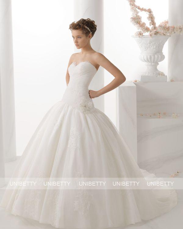 ウェディングドレス サイズオーダー 送料無料 Aライン 結婚式 二次会 披露宴 ws2670
