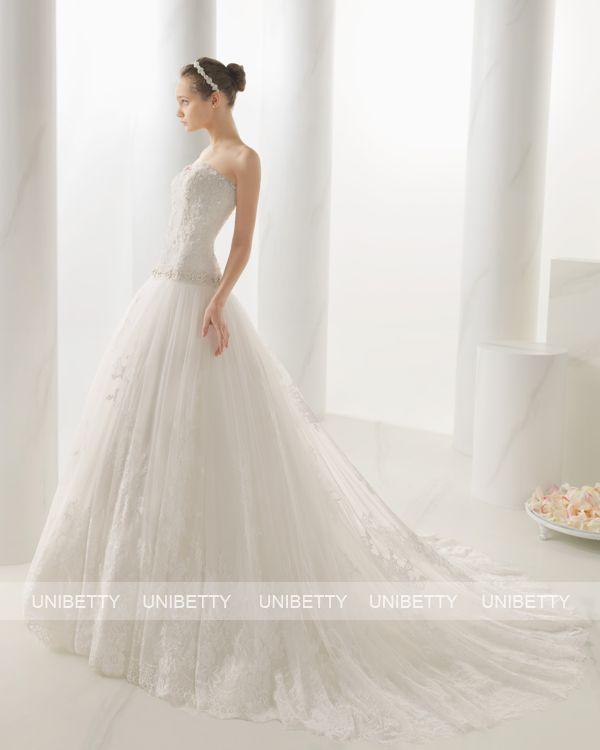ウェディングドレス サイズオーダー 送料無料 Aライン 結婚式 二次会 披露宴 ws2671