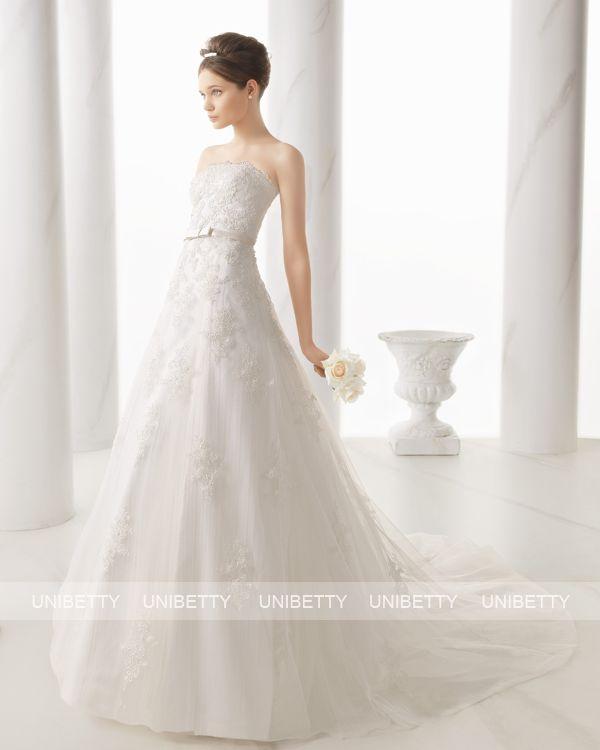 ウェディングドレス サイズオーダー 送料無料 Aライン 結婚式 二次会 披露宴 ws2705