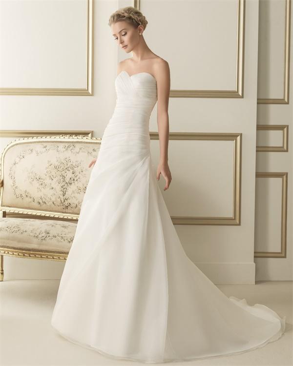 ウェディングドレス サイズオーダー 送料無料 Aライン 結婚式 二次会 披露宴 ws2603