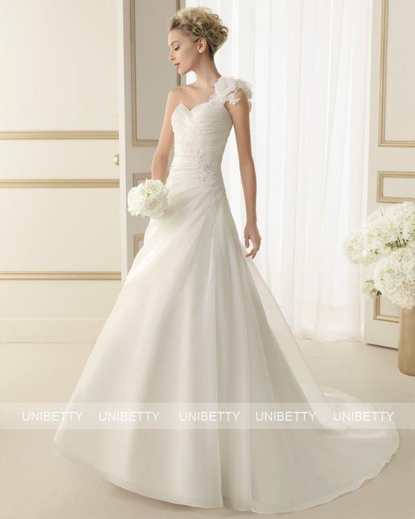 ウェディングドレス サイズオーダー 送料無料 Aライン 結婚式 二次会 披露宴 ws2600