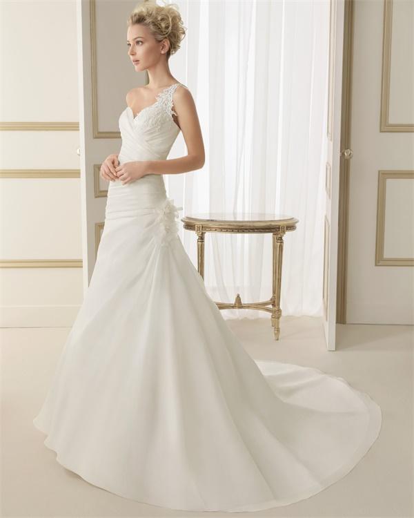 ウェディングドレス サイズオーダー 送料無料 Aライン 結婚式 二次会 披露宴 ws2602