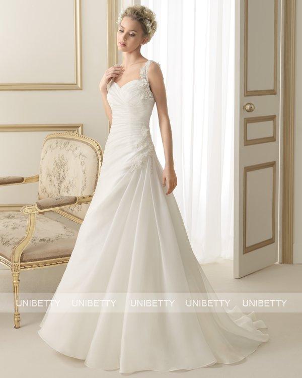 ウェディングドレス サイズオーダー 送料無料 Aライン 結婚式 二次会 披露宴 ws2605