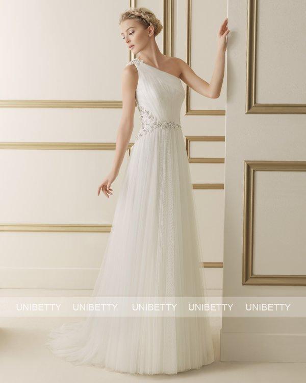 ウェディングドレス サイズオーダー 送料無料 Aライン 結婚式 二次会 披露宴 ws2618