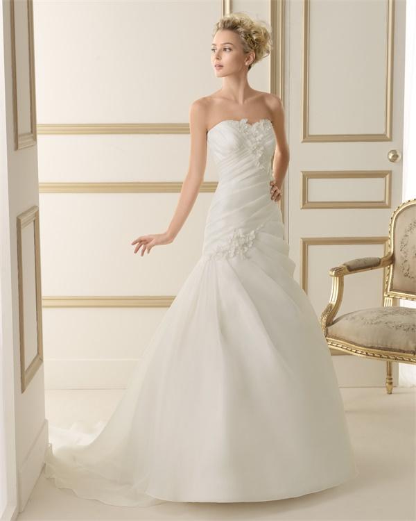 ウェディングドレス サイズオーダー 送料無料 Aライン 結婚式 二次会 披露宴 ws2607