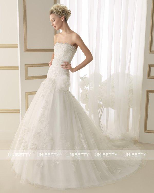 ウェディングドレス サイズオーダー 送料無料 Aライン結婚式 二次会 披露宴 ws2633