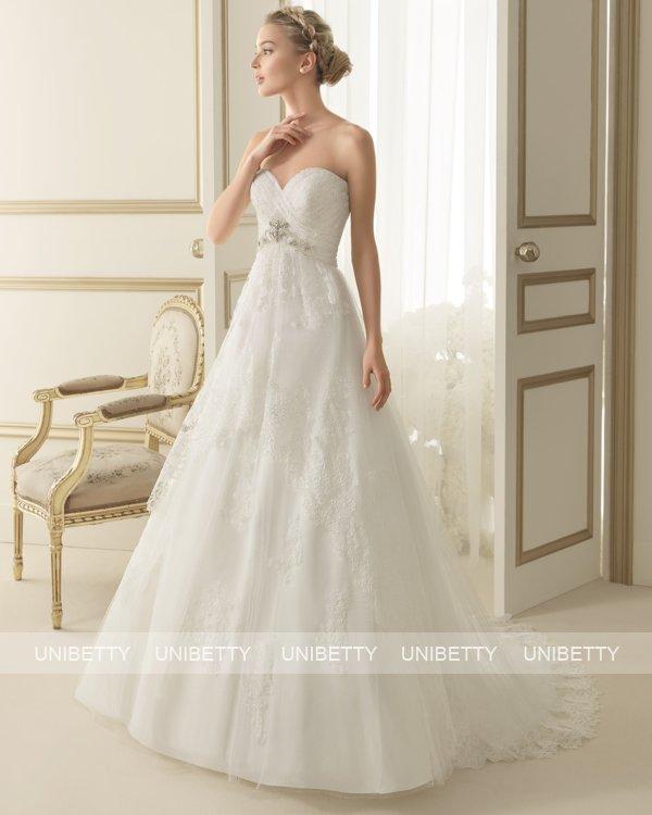 ウェディングドレス サイズオーダー 送料無料 Aライン 結婚式 二次会 披露宴 ws2631
