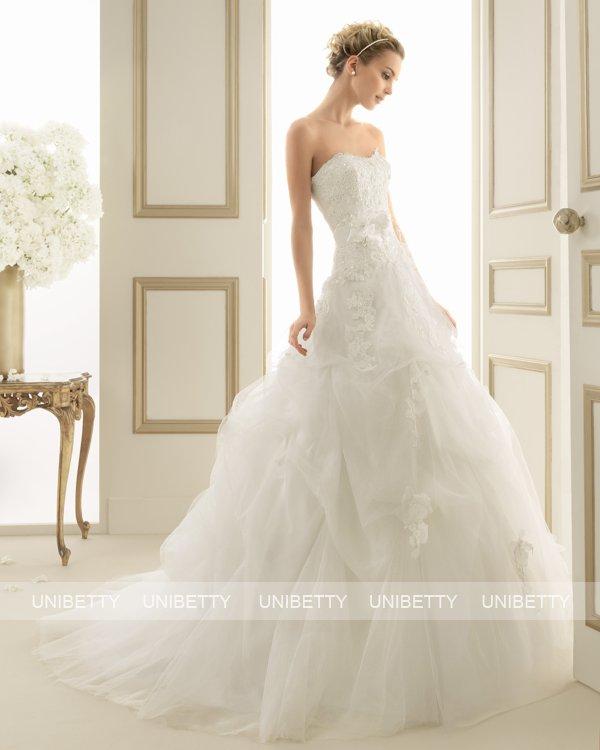 ウェディングドレス サイズオーダー 送料無料 Aライン 結婚式 二次会 披露宴 ws2647