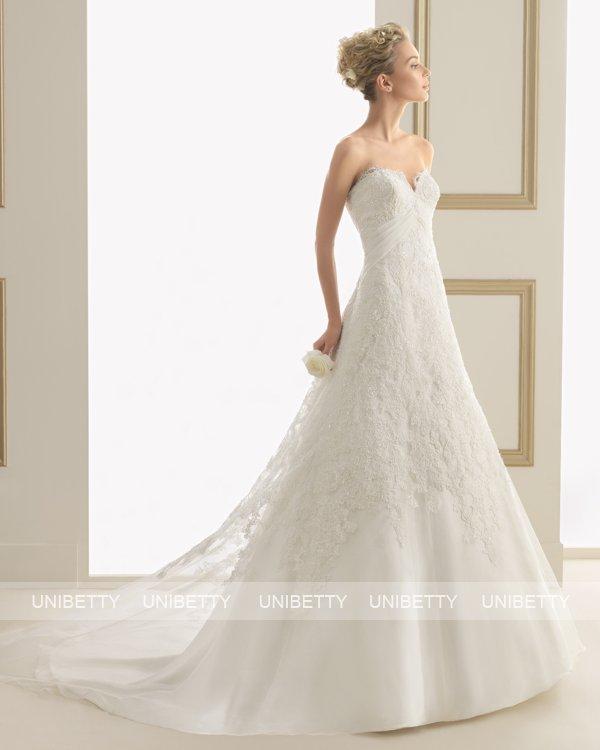 ウェディングドレス サイズオーダー 送料無料 Aライン 結婚式 二次会 披露宴 ws2648