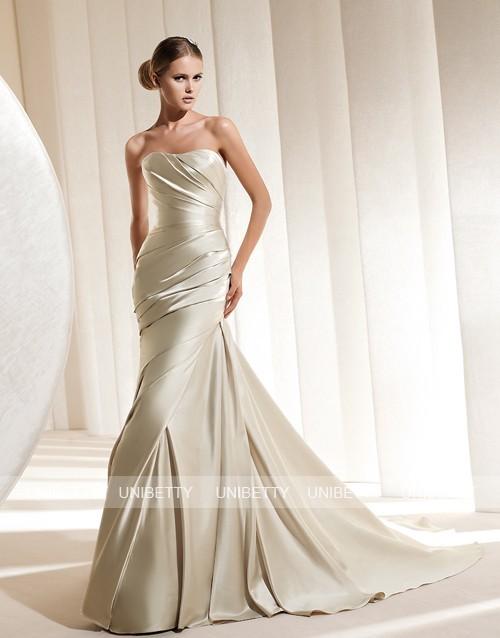 ウェディングドレス サイズオーダー無料 オーダードレス ウエディング マーメイドライン WEDDING DRESS 結婚式 披露宴 演奏会 二次会 花嫁 WS2170