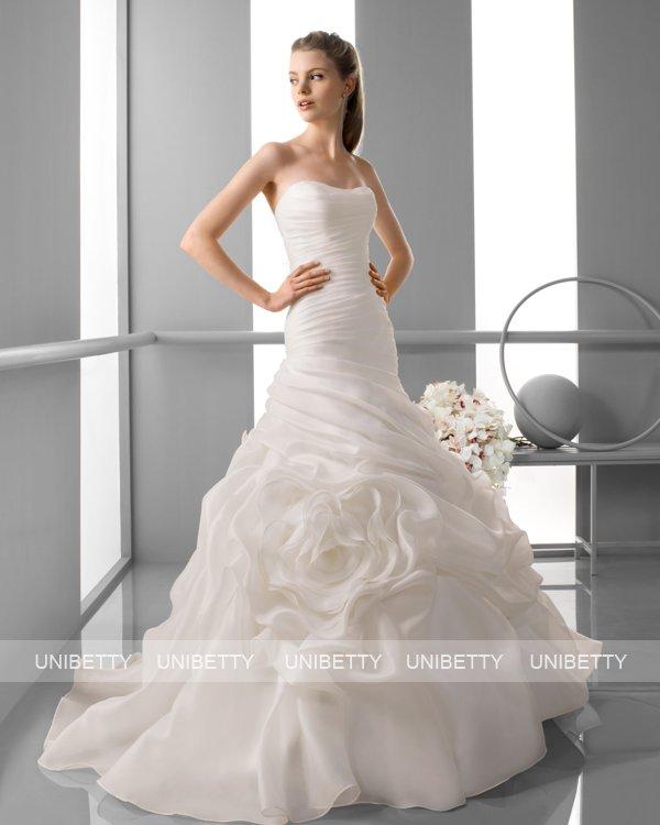 ウェディングドレス サイズオーダー無料 オーダードレス ソフトマーメイド マーメイドライン WEDDING DRESS 披露宴 演奏会 結婚式 二次会 ws2415