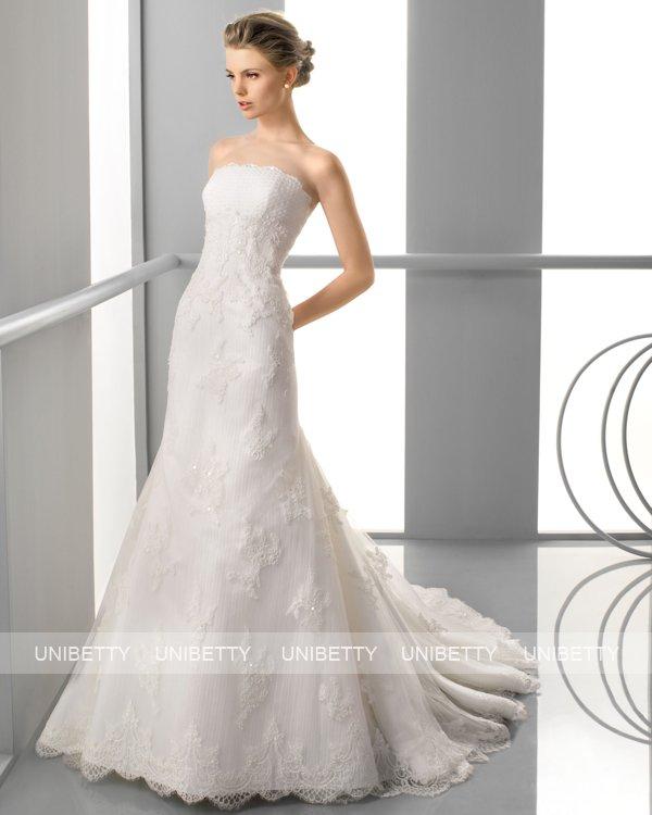 ウェディングドレス サイズオーダー無料 オーダードレス ウエディング マーメイドライン WEDDING DRESS 披露宴 演奏会 結婚式 二次会 ws2387