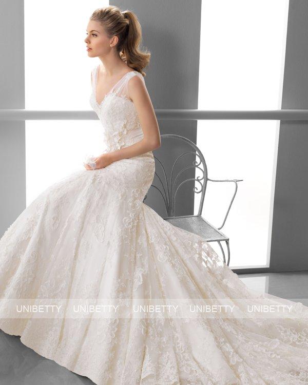 ウェディングドレス サイズオーダー無料 オーダードレス ウエディング マーメイドライン WEDDING DRESS 披露宴 演奏会 結婚式 二次会 ws2392