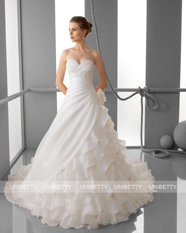 ウェディングドレス サイズオーダー無料 オーダードレス ウエディング プリンセスライン WEDDING DRESS 披露宴 演奏会 結婚式 二次会 ws2433