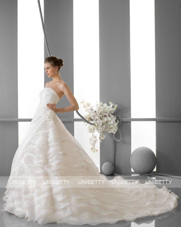 ウェディングドレス サイズオーダー無料 オーダードレス ウエディング プリンセスライン WEDDING DRESS 披露宴 演奏会 結婚式 二次会 ws2434