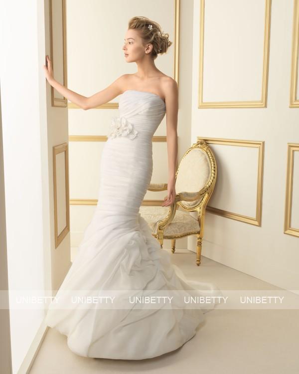 ウェディングドレス 結婚式 オーダードレス ウエディング マーメイドライン 結婚式 披露宴 演奏会 二次会 花嫁 ws2469