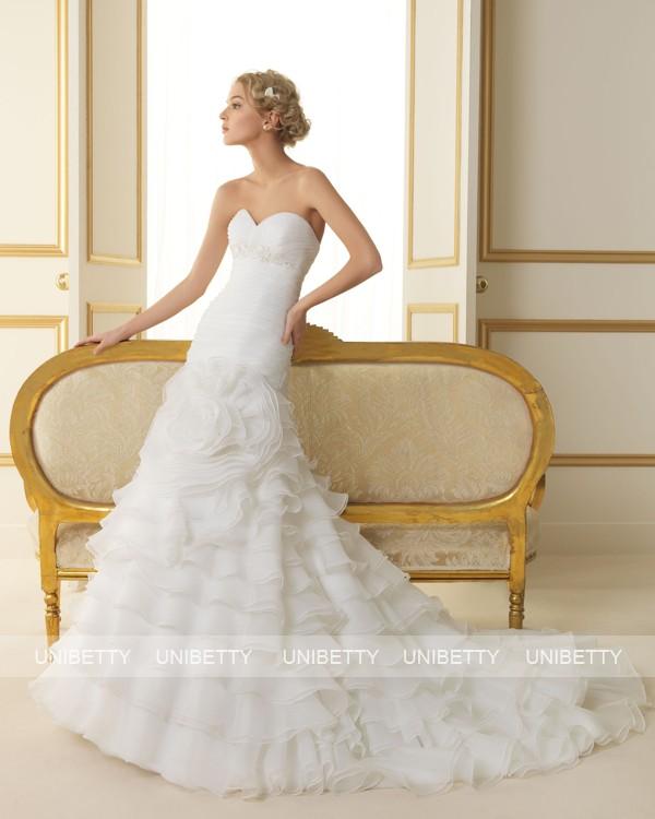 ウェディングドレス 結婚式 オーダードレス ウエディング マーメイドライン 結婚式 披露宴 演奏会 二次会 花嫁 ws2508
