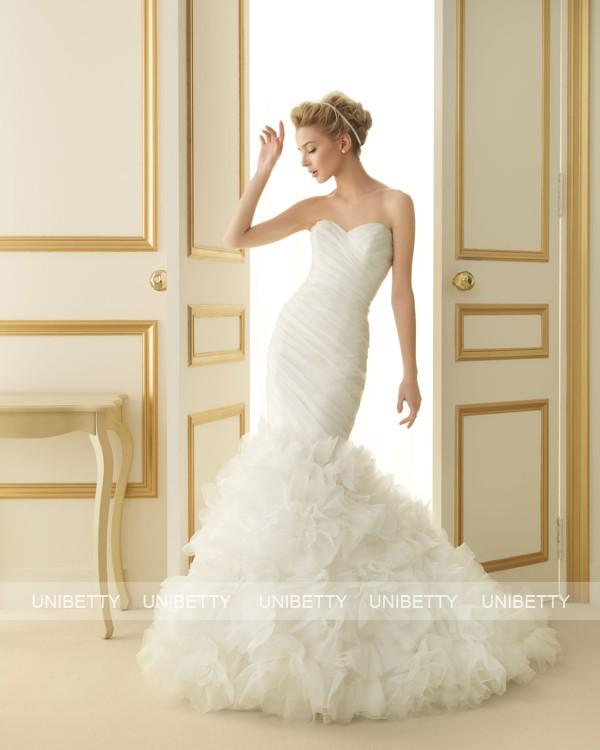 ウェディングドレス 結婚式 オーダードレス ウエディング マーメイドライン 結婚式 披露宴 演奏会 二次会 花嫁 ws2519