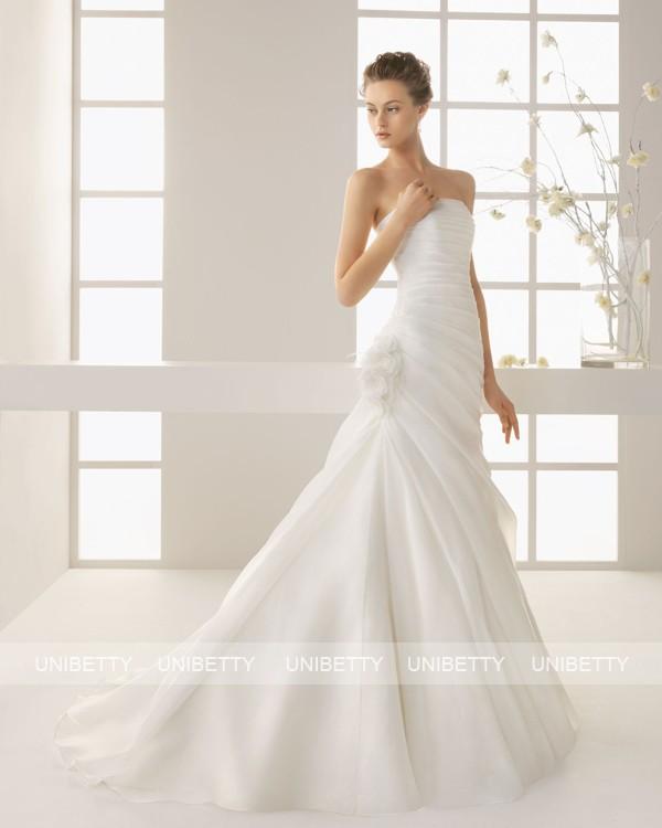 ウェディングドレス サイズオーダー無料 オーダードレス ウエディング マーメイドライン WEDDING DRESS 披露宴 演奏会 結婚式 二次会 ws2563