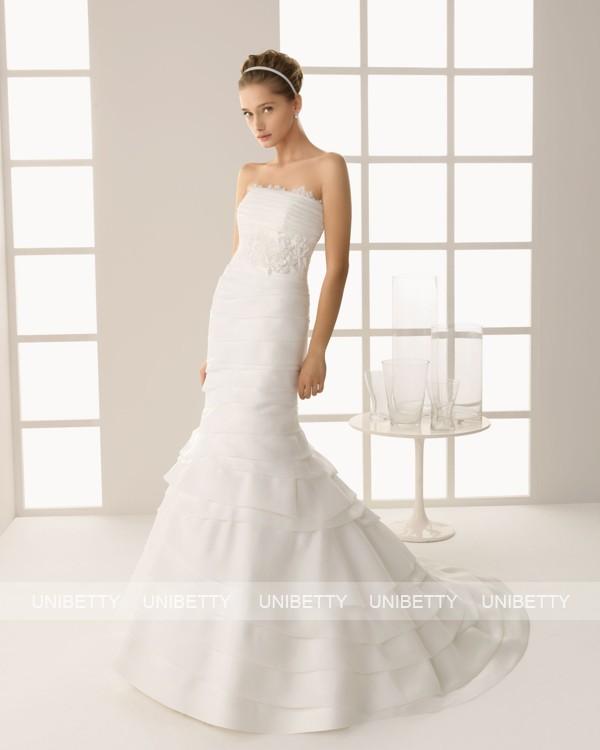 ウェディングドレス サイズオーダー無料 オーダードレス ウエディング マーメイドライン WEDDING DRESS 披露宴 演奏会 結婚式 二次会 ws2565