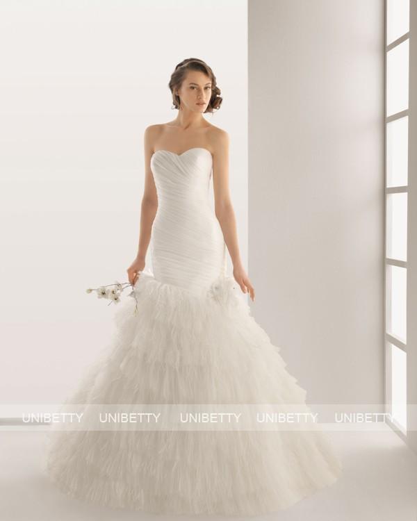 ウェディングドレス サイズオーダー無料 オーダードレス ウエディング マーメイドライン WEDDING DRESS 披露宴 演奏会 結婚式 二次会 ws2582