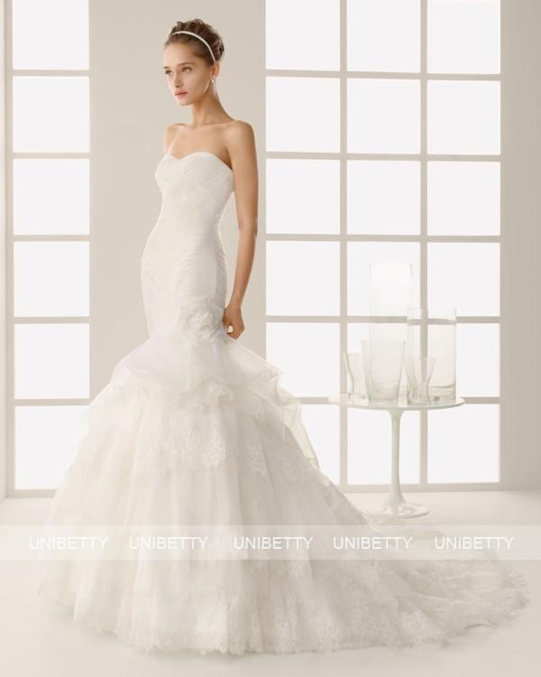 ウェディングドレス サイズオーダー無料 オーダードレス ウエディング マーメイドライン WEDDING DRESS 披露宴 演奏会 結婚式 二次会 ws2568