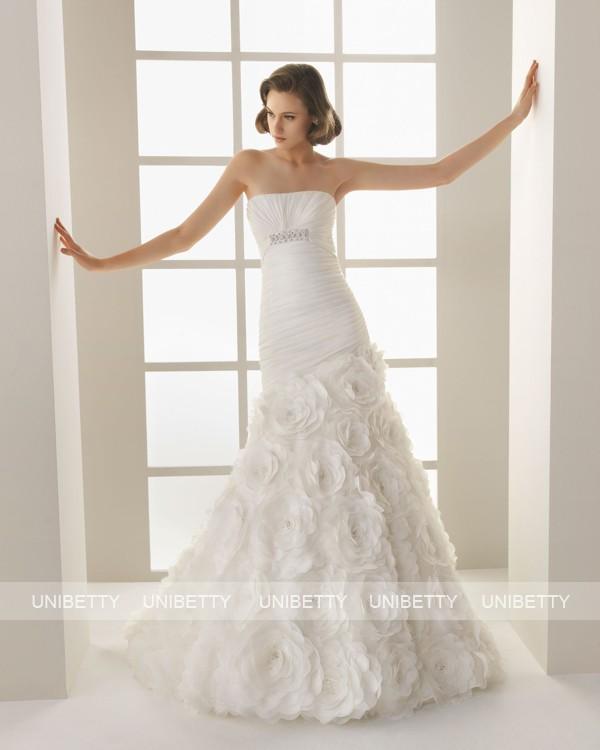 ウェディングドレス サイズオーダー無料 オーダードレス ウエディング マーメイドライン WEDDING DRESS 披露宴 演奏会 結婚式 二次会 ws2578