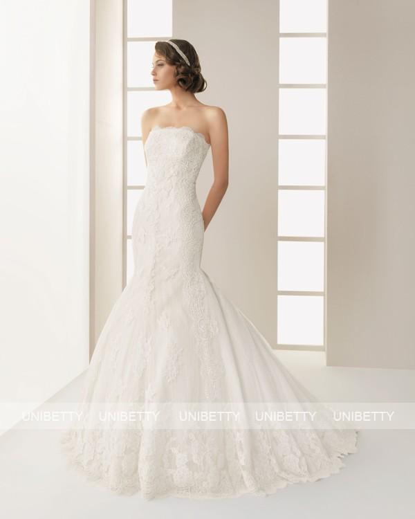 ウェディングドレス サイズオーダー無料 オーダードレス ウエディング マーメイドライン WEDDING DRESS 披露宴 結婚式 二次会 ws2536
