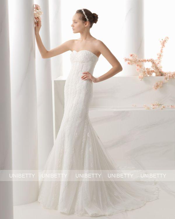 ウェディングドレス サイズオーダー 送料無料 マーメイドライン 結婚式 二次会 披露宴 ws2708