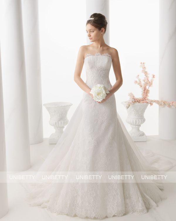 【ロングトレーン】ウェディングドレス サイズオーダー 送料無料 マーメイドライン 結婚式 二次会 披露宴 ws2711