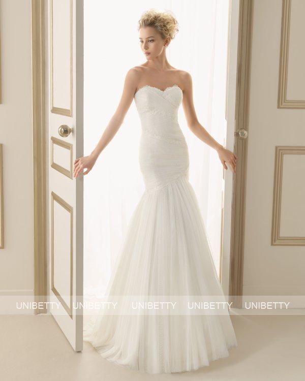 ウェディングドレス サイズオーダー 送料無料 マーメイドライン 結婚式 二次会 披露宴 ws2617