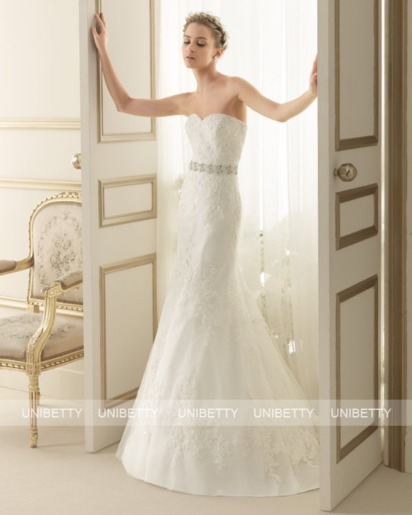 ウェディングドレス サイズオーダー 送料無料 マーメイドライン 結婚式 二次会 披露宴 ws2636
