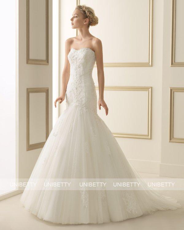 ウェディングドレス サイズオーダー 送料無料 マーメイドライン 結婚式 二次会 披露宴 ws2611