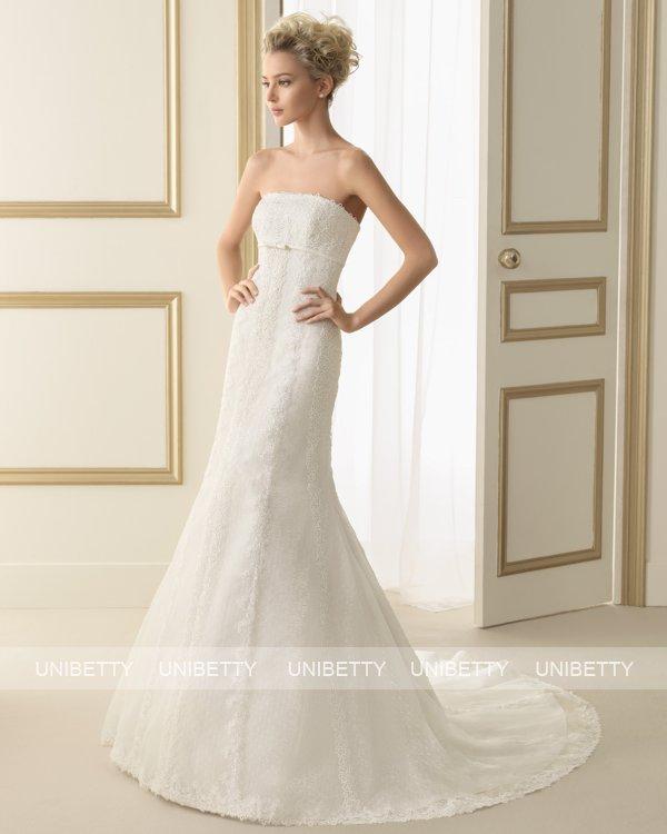 ウェディングドレス サイズオーダー 送料無料 マーメイドライン 結婚式 二次会 披露宴 ws2657