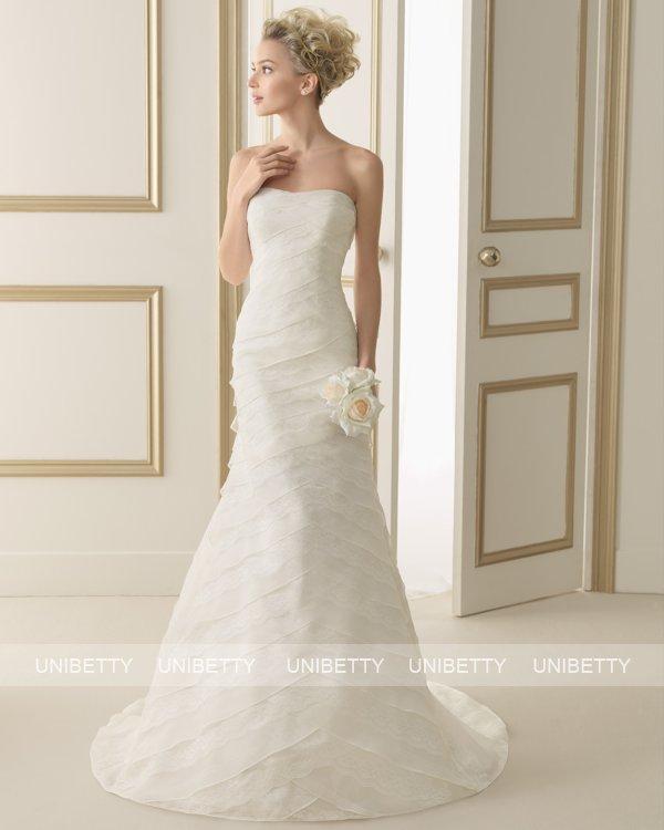 ウェディングドレス サイズオーダー 送料無料 マーメイドライン 結婚式 二次会 披露宴 ws2613