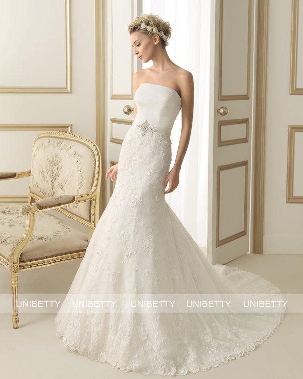 ウェディングドレス サイズオーダー 送料無料 マーメイドライン 結婚式 二次会 披露宴 ws2637