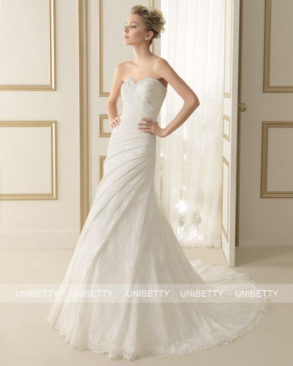 ウェディングドレス サイズオーダー 送料無料 マーメイドライン 結婚式 二次会 披露宴 ws2651